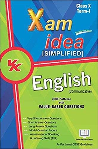 Buy English : Xam Idea Simplified English Term-I Class 10th